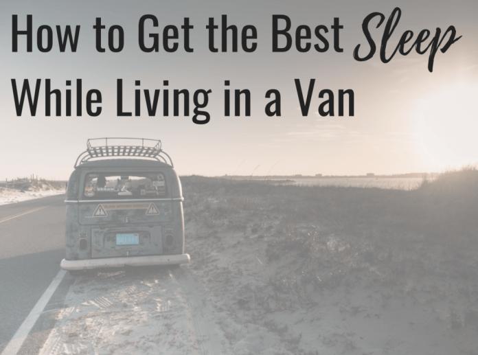 van life sleeping parking overnight