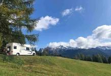 great dolomites road with motorhome